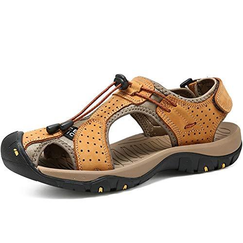 Männer im freien Sandalen Sneakers Haken Schleife geschlossen zehen atmungsaktive Hohle lässige Schuhe Sommer gehen sonnenwasser Schuhe