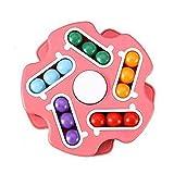 Zhixing Finger Gyro Ball Magische Scheibe Rubik's Cube Lernspielzeug für Kinder Denken und Logik-Training,Rot