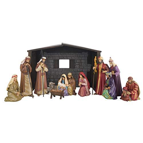 Greg Olsen Nativity Set - Nativity Sets for Christmas Indoor - Manger Scene Christmas Decorations - Christmas Nativity Set - Nativity Scene - Holy Family Nativity Scene - (12 PC Set)