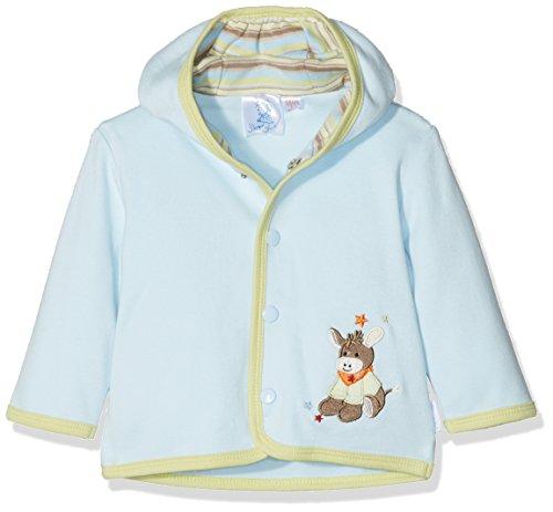 Sterntaler Veste à capuche en jersey Emmi pour bébés, Âge: 0-2 Mois, Taille: 50, Bleu