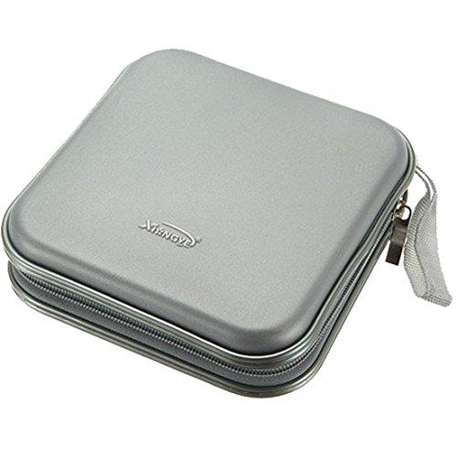 Anfukone CarCD Case 40Disc Capacity Heavy Duty CD Wallet Storage Organizer (Grey)