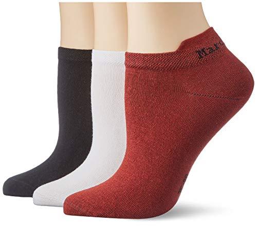 Marc O'Polo Body & Beach Damen Socken, 3er Pack, dunkelrot (403), 39/42