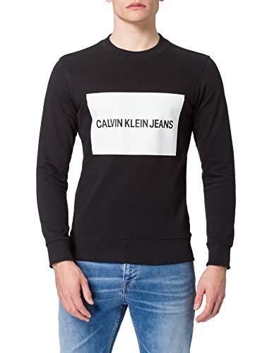 Calvin Klein Męska bluza z okrągłym dekoltem Institutional Box Slim