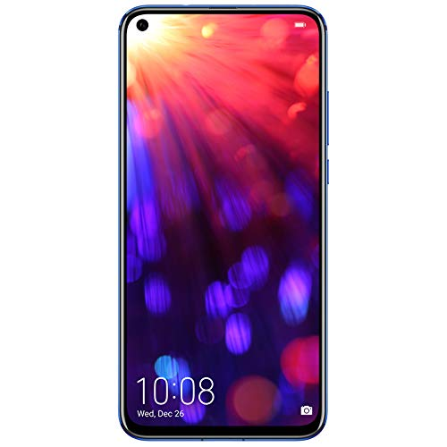 HONOR View 20 Dual SIM, 6GB RAM and 128 GB storage, 48 MP AI Camera with 6.4 Inch Full View Display, UK Official Device – Sapphire Blue