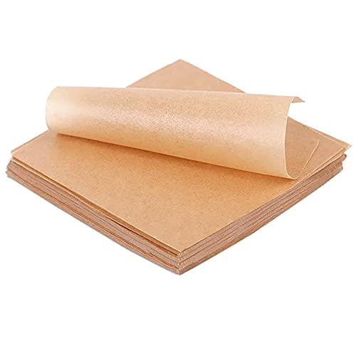 Hojas de papel de pergamino para revestimientos de pasteles – 200 piezas de papel de pergamino precortado sin blanquear de 30,5 x 40,6 cm, antiadherente para hornear, cocinar y freír