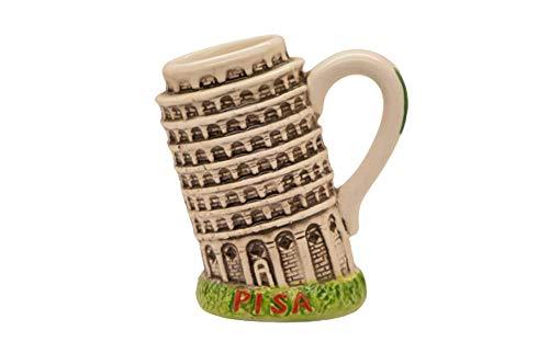 Portalápices Torre de Pisa colgante de cerámica con forma de taza, jarra en forma de torre, souvenir Italia, recuerdo de Pisa