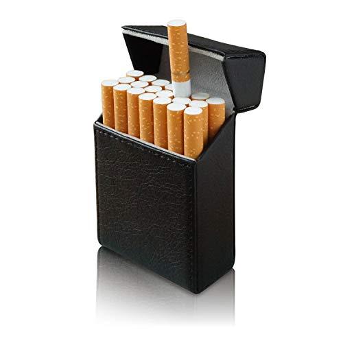 タバコケース メンズ (レザー製) 【 マグネット式でラクラク開閉! キングサイズ20本収納! 】 シガレットケース たばこケース シガーケース たばこ ケース プレゼント 【ZEROSIX】 (ブラック)