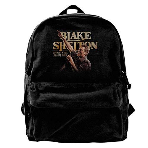 Husimy Rucksäcke,Schultaschen,Canvas Backpack Blake Shelton Rucksack Gym Hiking Laptop Shoulder Bag Daypack for Men Women