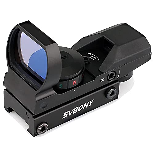 SVBONY Red and Green Dot Sight with 4 Adjustable Reticles...