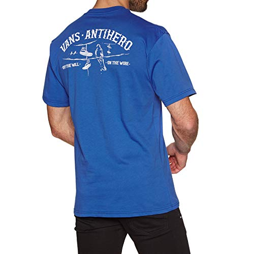 Vans X Anti Hero On The Wire T-shirt met korte mouwen Klein Royal Blauw
