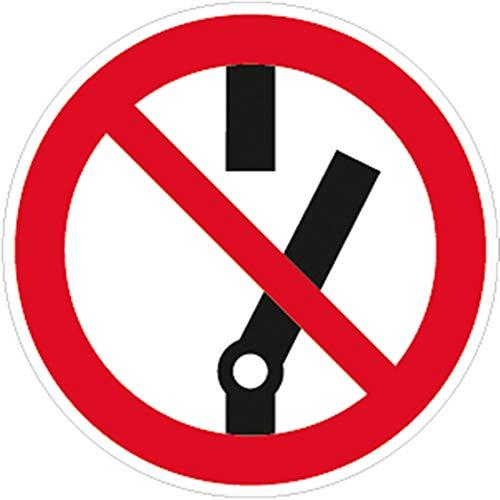 Aufkleber Piktogramm Nicht schalten Folie 2cm Ø 10 Piktogramme
