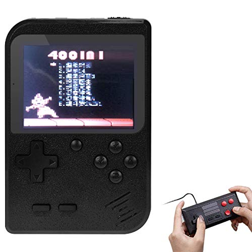TAPDRA Handheld Game Console, Retro Game Station with 400 Classic Games 3.0 inch Screen Portable Supporting 2 Player, Good Xmas Gifts for Kids