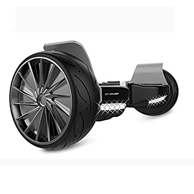 """City Cruiser Sport Balance Board Self Balance Scooter Hoverboard -UL2272 Certified, All-Terrain 8.5"""" Racing Wheels, 400W Dual-Motor with Bluetooth Speakers and LED"""