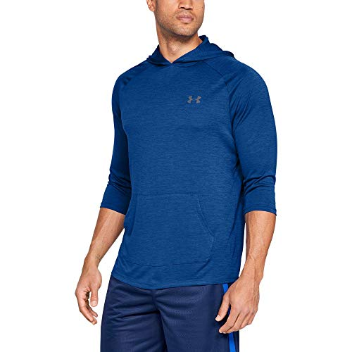 Under Armour UA Tech 3/4 SLV Hoodie 2.0 T-Shirt à Manches Longues Homme, Royal, FR (Taille Fabricant : XL)