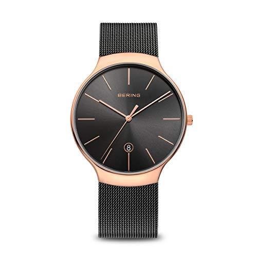 Bering Unisex Erwachsene Analog Quarz Uhr mit Edelstahl Armband 13338-262
