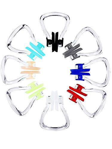 8 Stück Schwimmen Nase Clip Silikon Schwimmtraining Protector Plug (Verschiedene Farben)