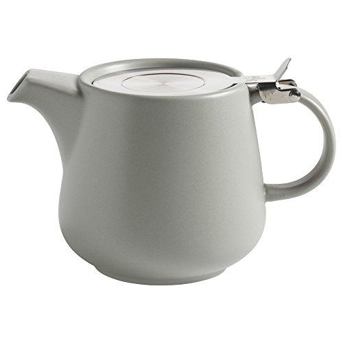 Maxwell&Williams - Tint - Teekanne - hellgrau - Keramik - inklusive Teesieb - 600 ml