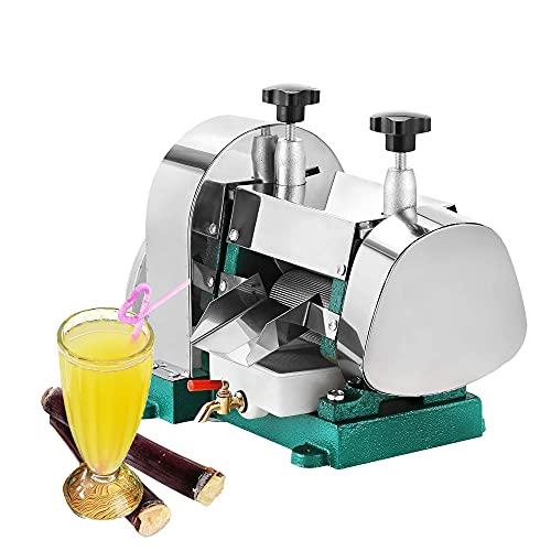 Exprimidor manual de caña de azúcar - Máquina extractora de caña de azúcar 50KG/H, Prensa de caña de azúcar comercial Engranajes de acero inoxidable para restaurante o uso doméstico