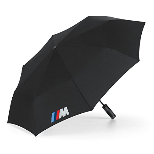 BMW Genuine M Folding Umbrella - Black - Diameter: 38.6''
