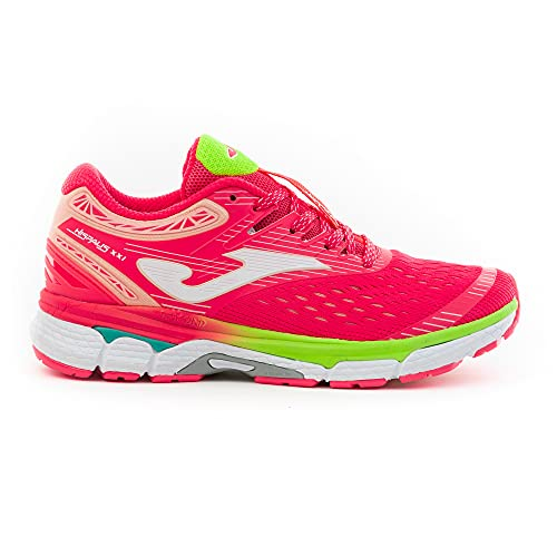 JOMA R.Hispalis 2007 Zapatillas de Running para Mujer, Coral/Limón, EU 40