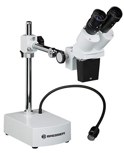 Bresser Mikroskop Biorit ICD-CS 5x-20x Auflicht Stereo Mikroskop mit 3 Wechselobjektiven, LED und 230mm Arbeitsabstand
