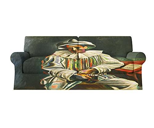 Fundas Sofa elasticas 1/2/3/4 plazas Cubre Sofa Fundas para Sofa Decorativas Fundas de Sofa Ajustables Fibra superfina 1 Pieza(Picasso Retrato,1 plazas:80cm-120cm)