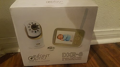 Infant Optics DXR-8 Video Baby Monitor with Interchangeable Optical Lens (White)