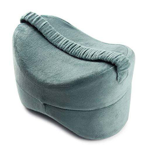 NKDD Almohada para la Rodilla Posicionador de piernas de Espuma viscoelástica para Dormir de Lado Cojín de Apoyo para la Rodilla Almohada para la Rodilla Lake Blue
