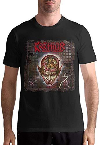 KAYLRR Fashion Tops Music Band per Uomo Kreator Coma of Souls Copertina dell album T-Shirt a Maniche Corte con Design alla Moda