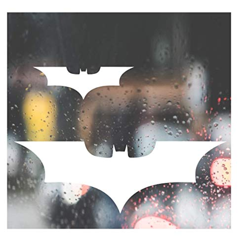 Custom Decal Car for Batman Bumper Sticker for Car, Truck, Jeep, Funny, Window, Motorcycle, Helmet, Bumper, Decal for Laptop, Phone, Home Decoration / 1.5 in x 4 in / White