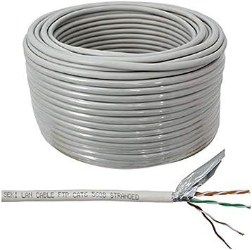Cable de red CAT.5e 100m ; F/UTP ; cable de instalación CAT5 ethernet: Amazon.es: Bricolaje y herramientas