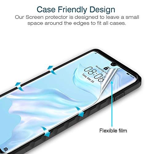 K&L LK 3 stück Schutzfolie für Huawei P30 Pro, (6.5 Zoll) [ Fingerabdruck-ID unterstützen] Displayschutzfolie Anti-Bubble [Kompatibel mit Handyhülle] HD Klar Folie - 4