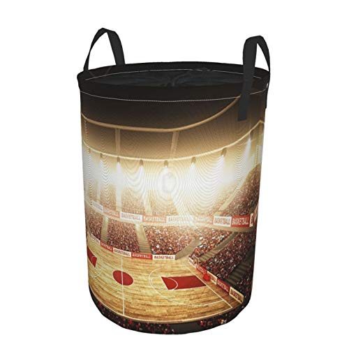 JOSENI Plegable Grande Cesto de Ropa Sucia para el Hogar,Arena de Baloncesto,Lavandería Cesta de Almacenaje Impermeable con Cordón,16.5' x 21.6'