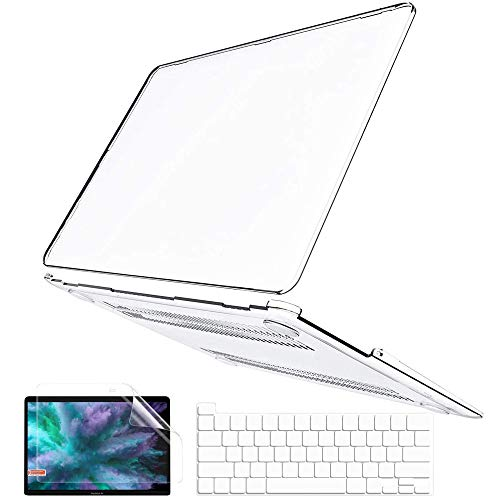 MacBook Pro 13 Case 2020 2019 2018 2017 2016 Release A2251 A2289 A1989 A2159 A1708 A1706, Anban Plastic Hard Shell Cover with Keyboard Cover & Screen Protector for Newest Mac Pro 13 with/No Touch Bar