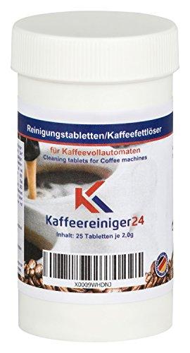 25 Reinigungstabletten für Kaffeevollautomaten je 2g - Hochwertige Reinigungstabs geeignet für Jura, Siemens, Melitta, Krups uvm. - Made in Germany