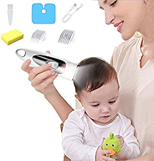 Baby Hair Clippers, Silent Kids Hair Trimmers, USB Rechargeable Professional Haircut, Waterproof Cordless Infant Hair Shav...