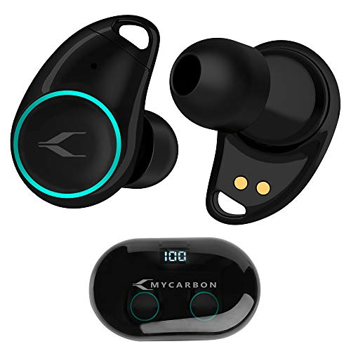 Auriculares Inalámbricos con Pantalla LED Digital MYCARBON I7 Plus Auriculares Bluetooth 5.0 Sonido EstéreoAudífonos Invisibles con Tecnología de Eliminación de Ruido Dual con Caja de Carga