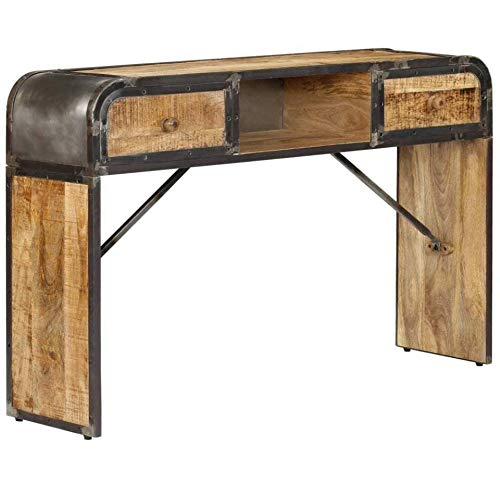 Rustic Solid Wood Sideboard Vintage Industrial Furniture Hallway Metal Console Table 2 Drawers Large Storage Unit Small Wooden Side Cabinet Farmhouse Retro Style Living Room Antique Rectangular Desk Buy Online In Colombia