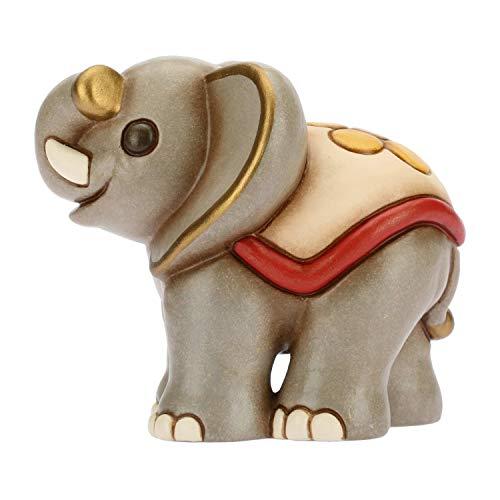 THUN ® - Elefante Sorridente - Animali Soprammobile da Collezione - Ceramica - I Classici
