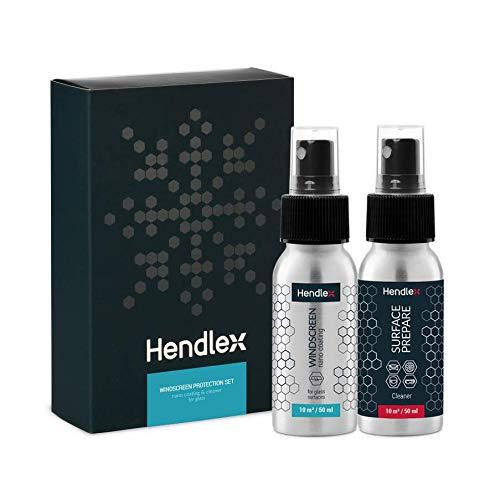 Hendlex Nano - Protector de parabrisas para coche, revestimiento hidrofóbico de nano tratamiento invisible de larga duración, para protección contra la lluvia, repelente al agua, sellador automático