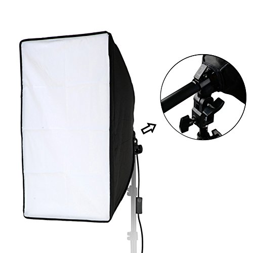 Lightdow 20x28(50x70cm) Lighting Soft Box Only(NO Light Stand), 9ft/2.8m Long Cable with E27 Screw Socket (Upgrade Version with Hand Grip & Spring Lock System)