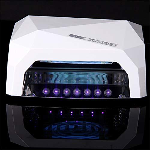 18W Lampe UV Lampe Gel Durcisseur Minuterie Séchage des Ongles + Kit complet de Nail Kit + Cadeaux GRATUITS - Blanc (En Stock)