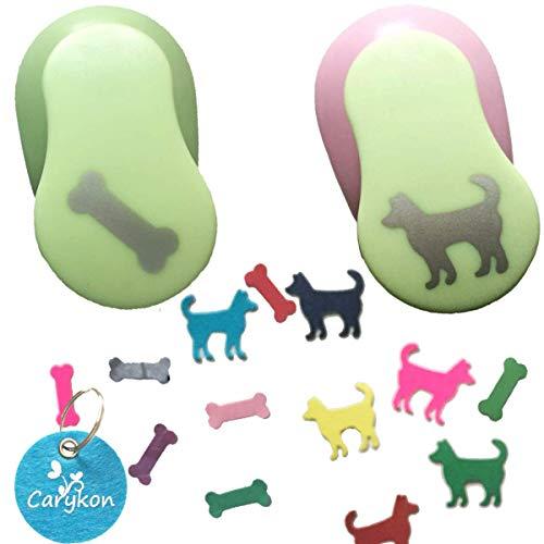 Carykon Motivstanzer Hund und Knochen, 2,5 cm, 2 Stück