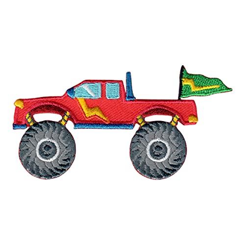 PatchMommy Camión Monstruo Monster Truck Parche Termoadhesivo Parche Bordado para Ropa - Parches Infantiles y Apliques para Niños