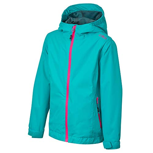 CMP Mädchen Windproof and Waterproof rain Jacket WP 10.000 Regenjacke, Ceramic, 176
