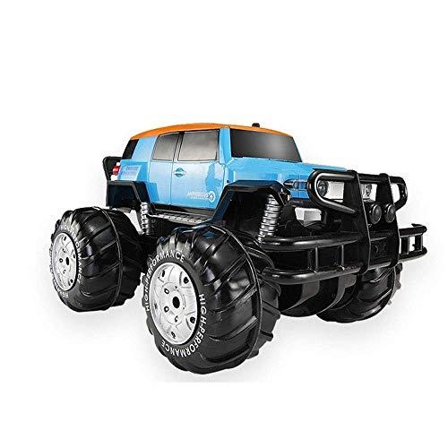 Tletiy High Speed Wasserdicht Amphibie 2,4 GHz Fernbedienung Auto mit LED-Leuchten Elektro-Geländewagen 4WD RC Cars 4-Rad-Rennen Monster Truck Hobby Klettern Crawler Buggy (Color : 1 battert)