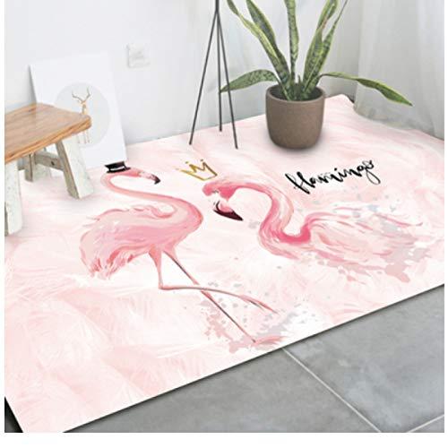 maishi Alfombras Larga Sala De Estar Cocina Dormitorio De Los Niños Alfombrilla De Juego Baño Guardería Pasillo Entrada Sofá Dibujos Animados Flamingo Chica Regalo Decoración del Hogar