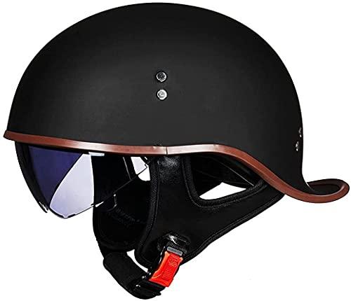 STTTBD Casco de Motocicleta Medio Casco de Bicicleta Casco Retro Medio Casco Unisex Casco de Cola de Pato Ultraligero Protección Solar B,L