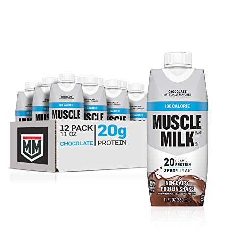 Muscle Milk 100 Calorie Protein Shake Chocolate 20g Protein 11 Fl Oz 12 Pack