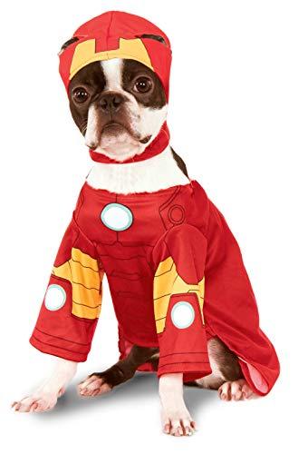 Rubie'S 580072M Disfraz Oficial de Iron Man para Mascota, Blanco,...